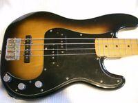 Fender Squier Japanese Vintage JV '57 Precision electric bass guitar - Japan - '80s - 2-col 'burst