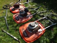 Flymo GT2 and GL Petrol Lawn mowers with spare engines and other parts - Job Lot