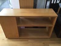 Tv / stereo cabinet, from heals. Solid oak