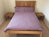 Double bed with memory foam mattress + 2 free bedside tables!