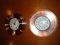 Clock & Temperature-Humidity Gauges
