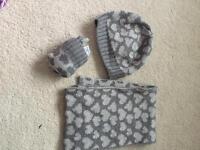 Girls hat, scarf and glove set