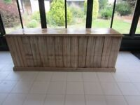 Large Distressed Pine Counter (maybe other uses). Originally made by Jenks & Wood