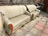 Garden clear out free to collect sofas mirrored table medic dresser breeze blocks wood medal sink