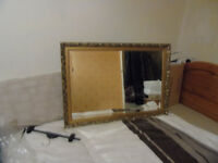 Large Brass Effect Wall Mirror