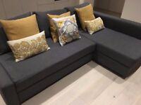 Grey Ikea Friheten Corner Sofa Bed + Storage
