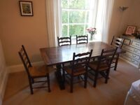 Excellent Dark Wood Table and Chairs