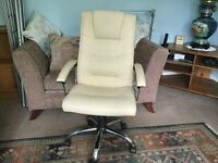 Excellent Quality Cream Adjustable Office Chair with Arms