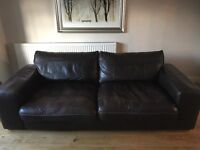 Two seater Leather Sofa & one seater Armchair