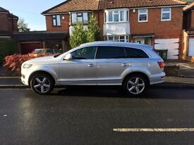 Silver Audi Q7 3.0 TDI S Line Tiptronic Quattro 5dr Gorgeous ,drives beautifully Great runner