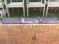 3 x roof ridge tiles in black / dark grey