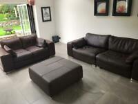 4 Piece Leather Sofa / Suite