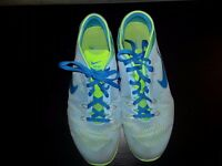 NIKE TRAINERS - blue/green SIZE 7