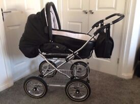 Jan Stewart Churchill Hesba PRAM Black leather