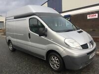Renault traffic vivaro van 2008 2.0 cdti extra high roof lwb 2 owner full service history air con