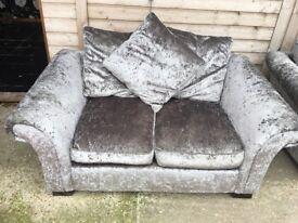 Crushed velvet sofa/arm chair