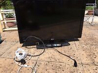 37 in LCD LG TV with remote and TV Coax Cable