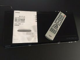Toshiba SD 370-EKB DVD Player with Remote Control and Original Owners Manual