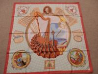 Hermes vintage silk scarf complete with original box
