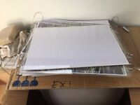 Perspex A3 Cable window display pockets x 12