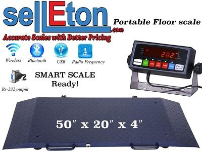 New Industrial Warehouse Multi Purpose Portable Floor Scale 2000 X .2 Lb