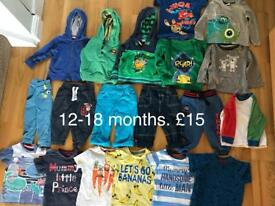 12-18 months boys clothes bundle