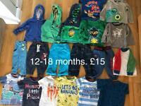 12-18 months boys clothes bundle