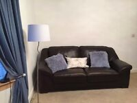 2 Brown John Lewis Leather Sofas - MUST COLLECT