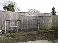 Galvanised dog run panels.
