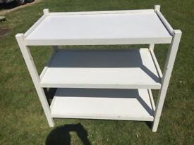 Home built baby changing table