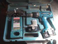 Makita 6336D Cordless Drill Set 14.4V Variable Speed