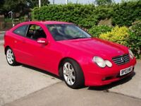 2003 MERCEDES C220CDI SE AUTOMATIC COUPE 50MPG FULL LEATHER