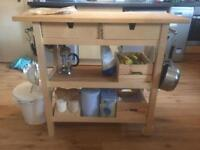 IKEA KITCHEN BENCH/TROLLEY - Modified