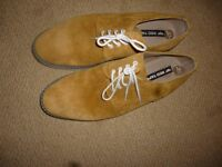 Sand coloured suede shoes never worn.