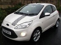 FORD KA 1.3 TITANIUM *LIMITED EDITION* PEARL WHITE TOP SPEC! LIKE CLIO FIESTA 107 C1 500 MINI DS3 A1