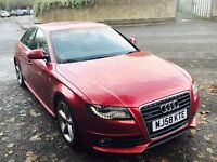 AUDI A4 2.0 TFSI S Line Quattro 4dr (red) 2008