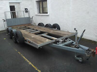 2 axle car transporter trailer 14.4ft x 6ft (4.4m x 1.85m)