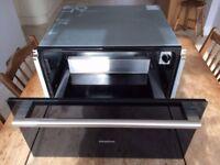 Siemens integrated warmer drawer.