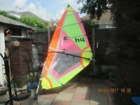 Windsurfer Board and Sail - complete - ready to go