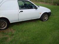 Fiesta diesel van 5 months mot tow bar radio excellent condition 50+ mpg £100'spent swop motorcycle