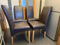 4 X leather chairs