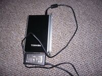 Toshiba External Hard drive 320GB IDE with power supply and USB lead