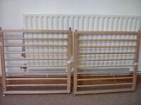Baby Dan Solid Wood 'No Trip' Safety Gates (2 for sale) £10 EACH