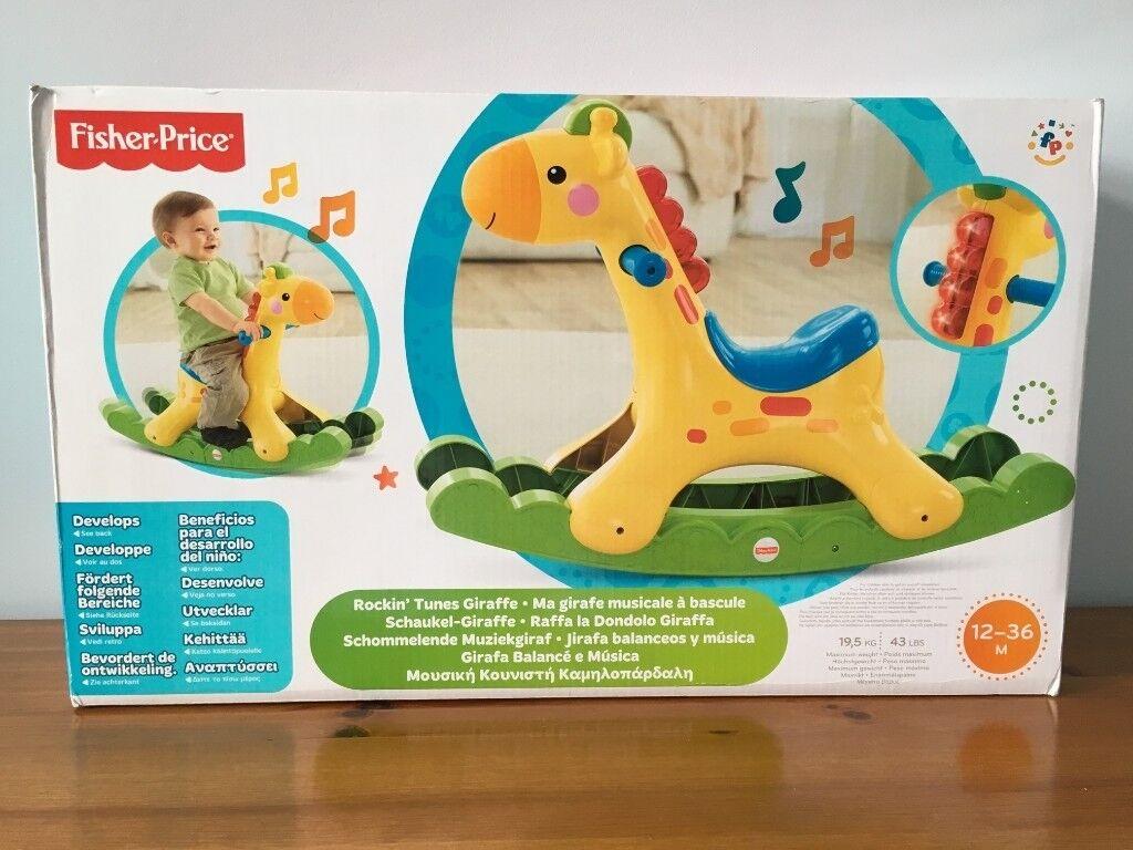 Raffa Dondolo Giraffa.Fisher Price Rockin Tunes Girrafe Boxed In Bishop Auckland County Durham Gumtree