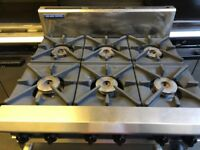 Blue Seal Commercial 6 Burner Gas Cooker with Oven (Takeaway, Restaurant)