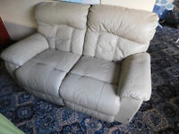 FREE TO COLLECT -Land of Leather 2 seater manual reclining sofa