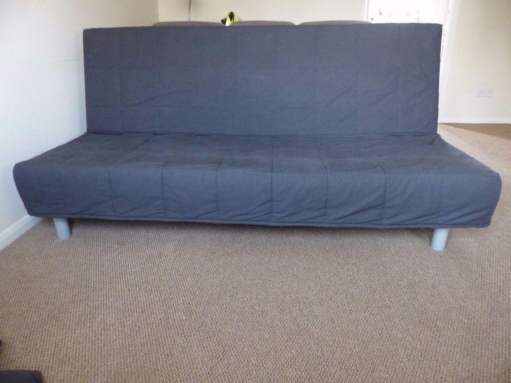 Ikea Beddinge Lovas Sofa Bed 3 Seater Dark Grey Cover