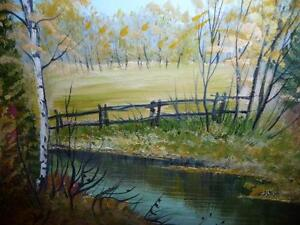 "L. M. Spears ""Country Scene"" Oil Painting Stratford Kitchener Area image 7"