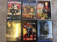 DVDs - all action/thriller. 6 DVDs for a fiver