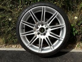 2 alloy bmw wheels complete with tires 225/35ZR19 88Y xl 100 pounds the pair. buyer to collect.